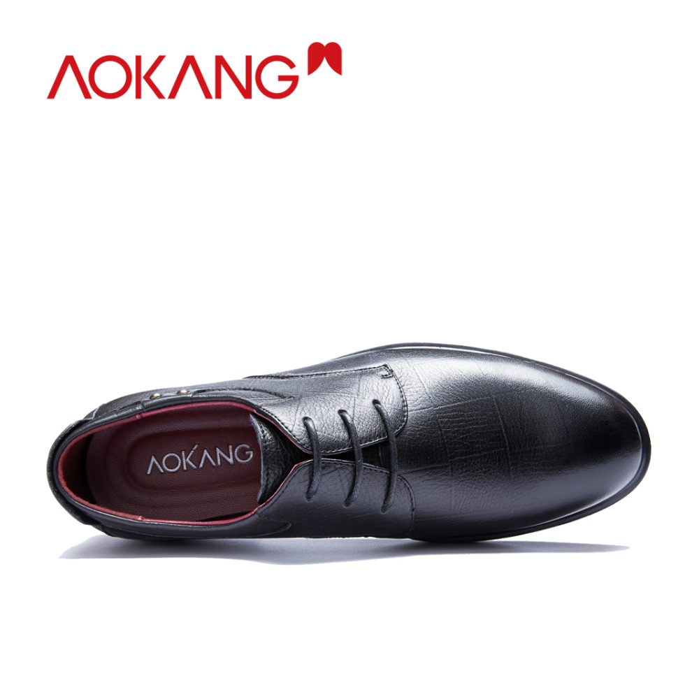 Image 3 - AOKANG New Arrival men dress shoes genuine leather men shoes brand shoes men brogue shoes high quality free shipping 193211002-in Formal Shoes from Shoes