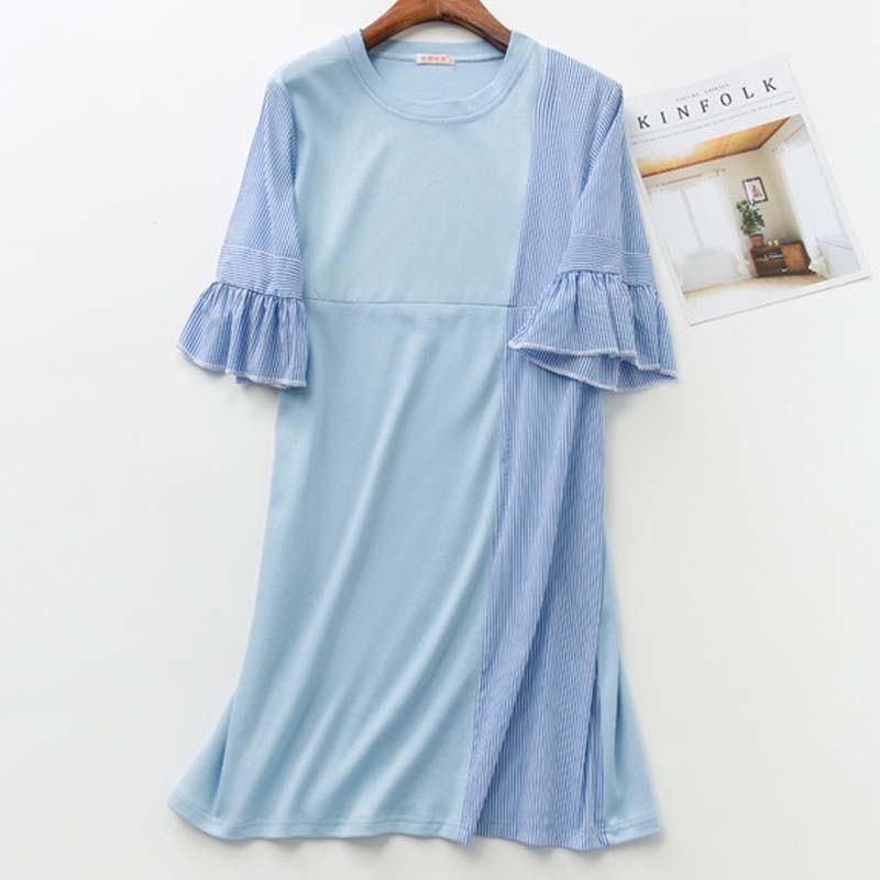 Ruffles Maternity Feeding Dress Patchwork Breastfeeding Dresses Maternity Nursing Clothes For Pregnant Women 2018 summer dress