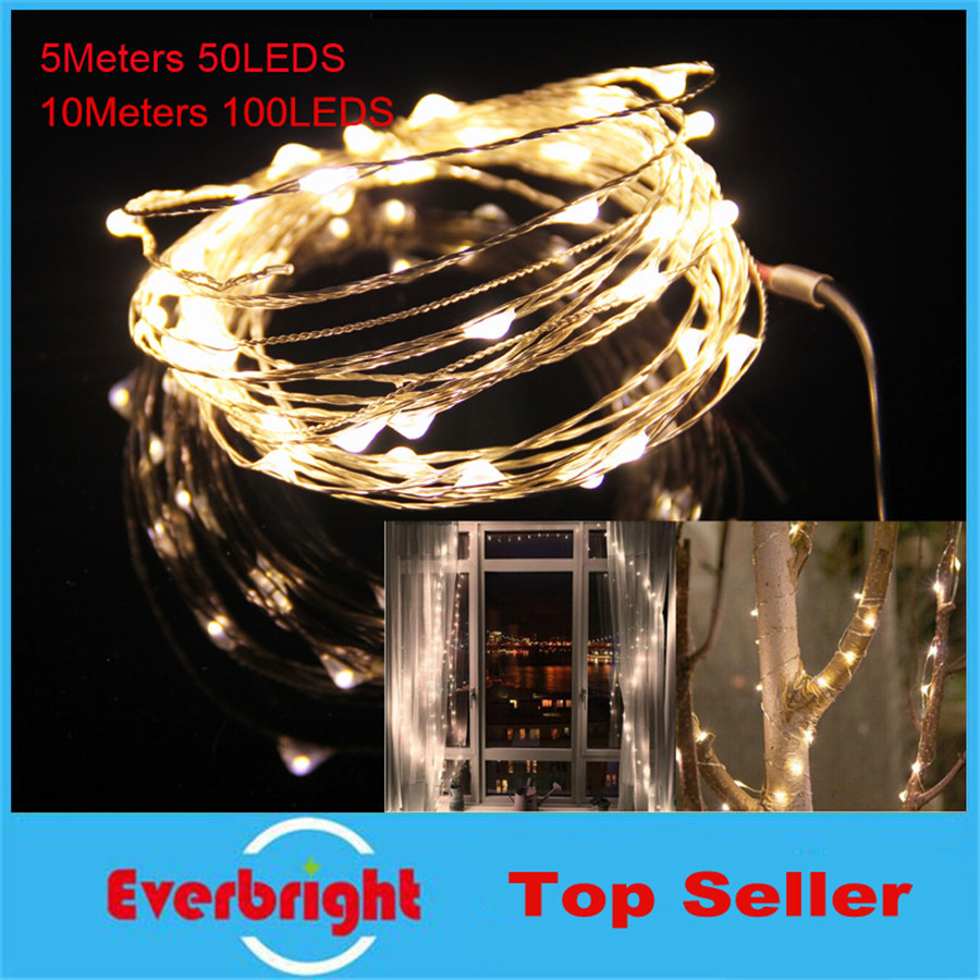 led string lights 10M 33ft 100led 5V USB powered outdoor Warm white/RGB copper wire chri ...