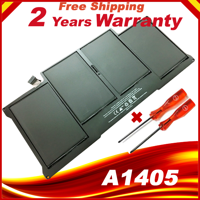 New Laptop Battery For MacBook Air 13 A1369 year 2011 & A1466 year 2012 A1405 + Gift Screwdriver hsw rechargeable battery for apple for macbook air core i5 1 6 13 a1369 mid 2011 a1405 a1466 2012