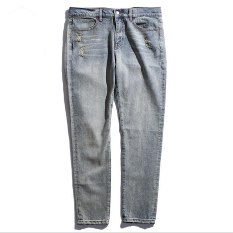 ФОТО Classic fashion style jeans men's slim solid color cowboy casual men's in the waist jeans high quality trousers