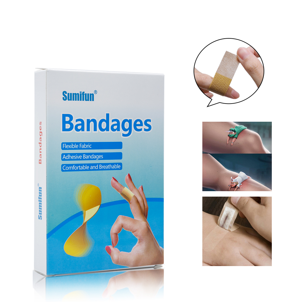 100pcs Band Aid First Aid Bandage Medical Adhesive Plaster Strips Wound Dressings Sterile Hemostasis Stickers