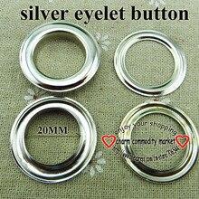 20 штук 20 мм металлические серебряные люверсы брендовые кнопки Швейные аксессуары для одежды круглые пуговицы сумки кожаные люверсы MNE-01