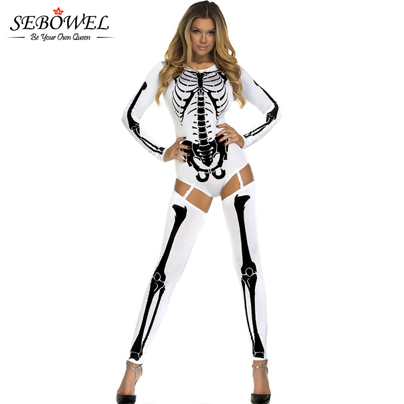 New Womens Ladies Halloween Skeleton Sleeveless Jumpsuit One Piece Sizes UK 8-20