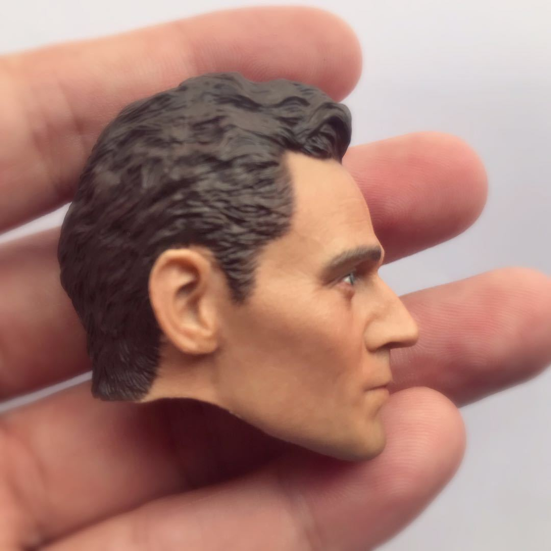 1//6 Loki Tom Hiddleston Head Sculpt Avengers Endgame For Hot Toys Male Figure
