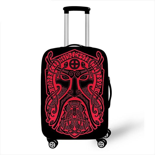 18-32 Inch Luggage Protective Cover Vikings Trolley Case Dustproof Elastic Cover Travel Accessories Trunk Suitcase