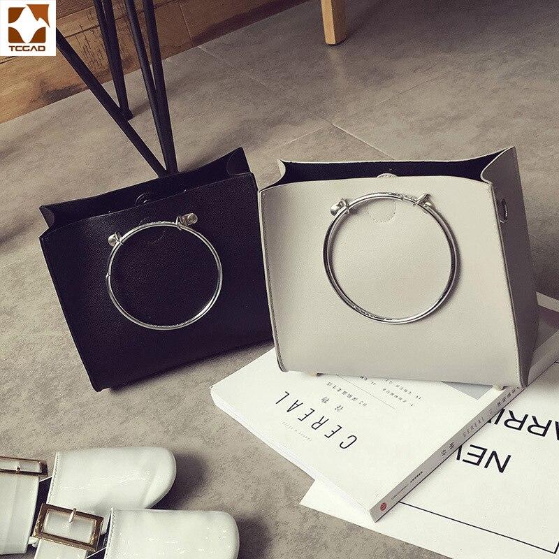 e6baf519a563 Модная новая стильная женская сумка мессенджер с металлической круглой  ручкой, женская кожаная сумка высокого качества, хит продаж купить на  AliExpress