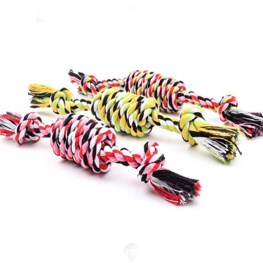 Multi Color Pet cotton rope dog toy 27cm pet molar and