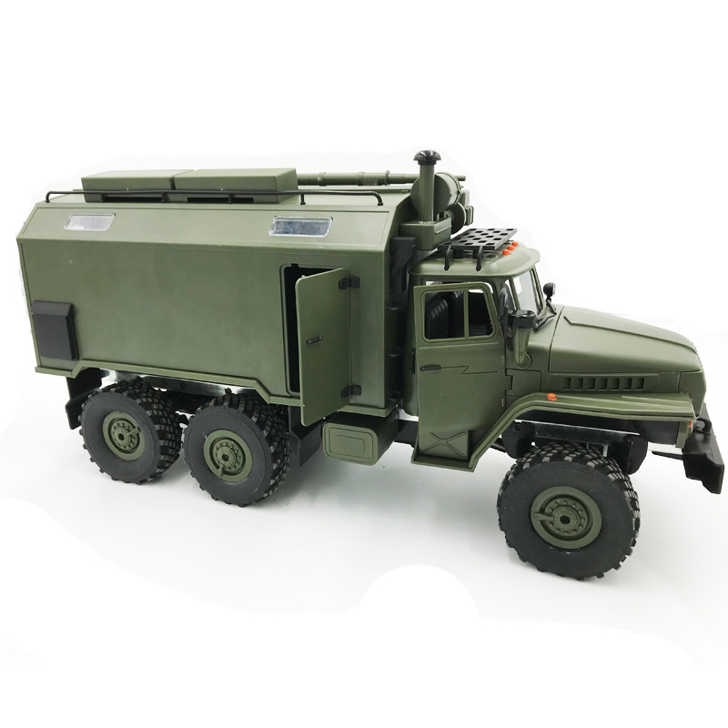 2018 Four Six-drive Army Card RC Remote Control Car DIY Modified Toy Model, Manual Diy Toy Truck