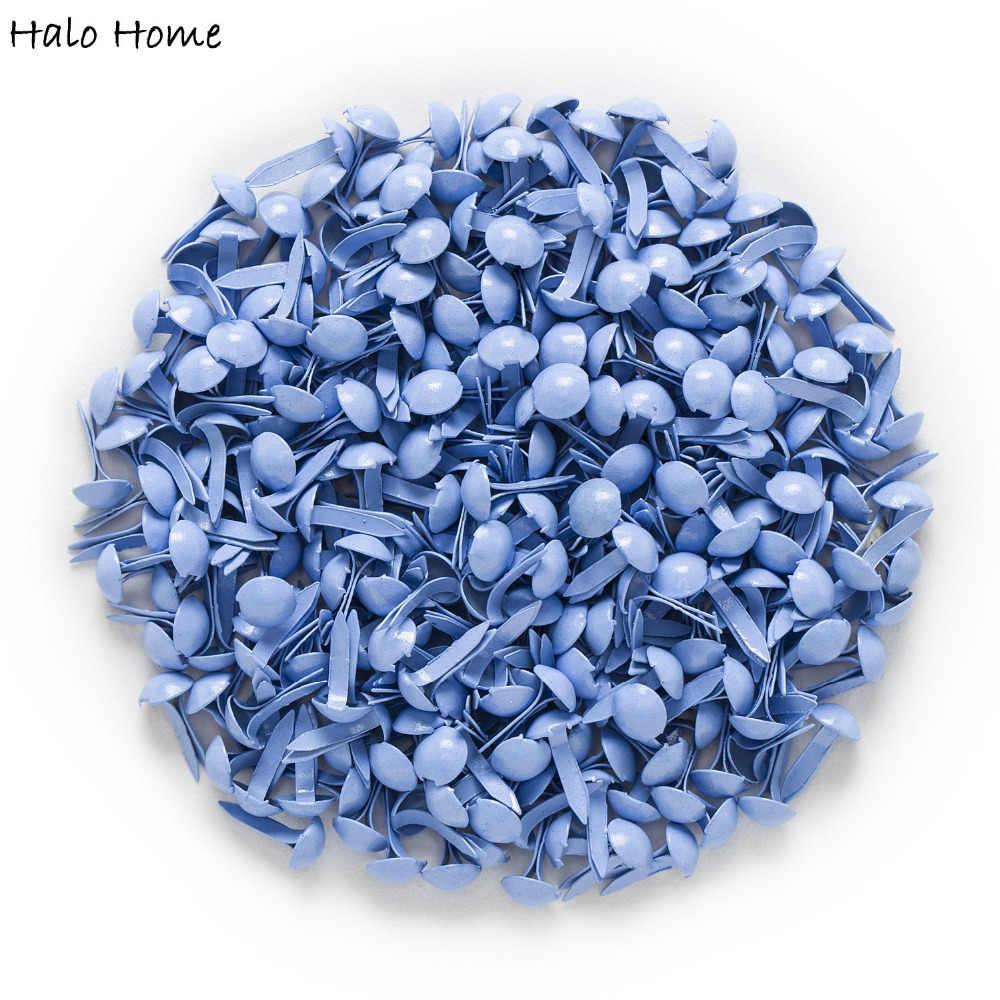 """500 Pcss синие пастельные круглые штифтики для скрапбукинга, украшение для изготовления открыток DIY Инструменты для домашнего декора бумажное Украшение 9x5 мм (3/8 """"x1/4"""")"""