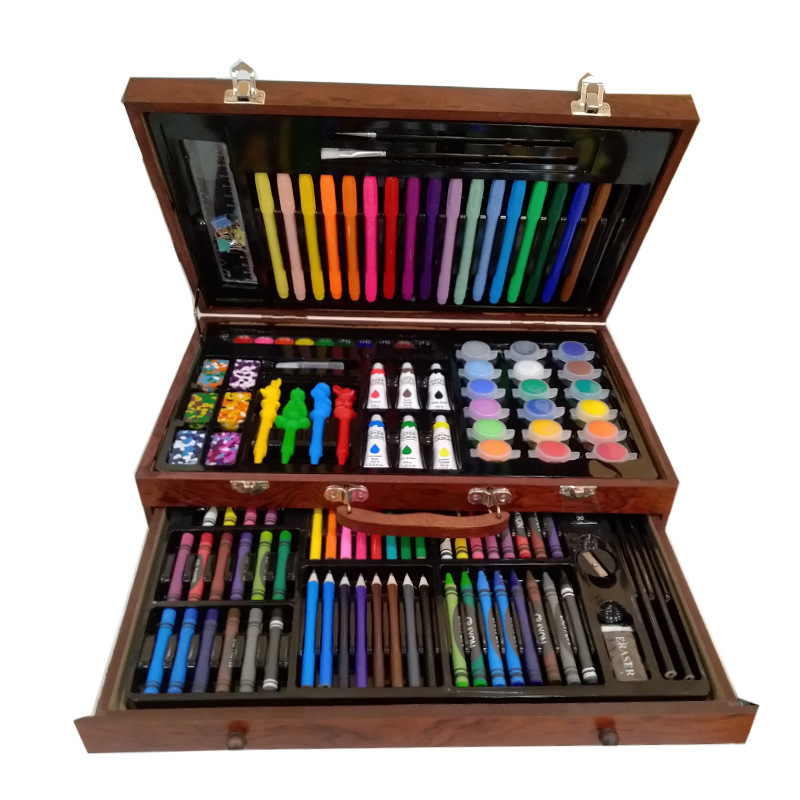 The latest explosion models of advanced 130pcs/sets of Art painting brush children's painting set