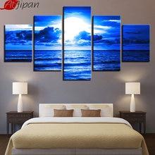 Atfipan холст постеры настенные художественные Рамки 5 шт синие