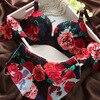 New Luxury Noble Printing Breathable Deep V Gather Adjustable Bra Set Women Piece Seamless Underwear Set