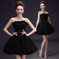 Latest Sweetheart Black A line Lace Beaded Fashion Mini Short Prom Party Dress Cocktail Dresses