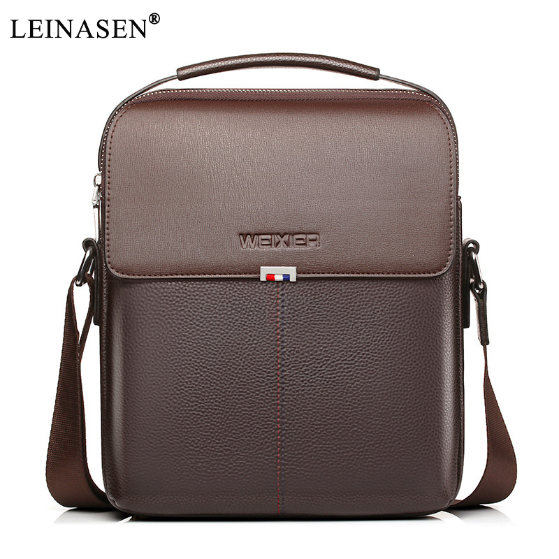 купить 2018 New Fashion PU Leather Male Shoulder Crossbody Bags Messenger Small Flap Business Casual Handbags crossbody ipad briefcase недорого