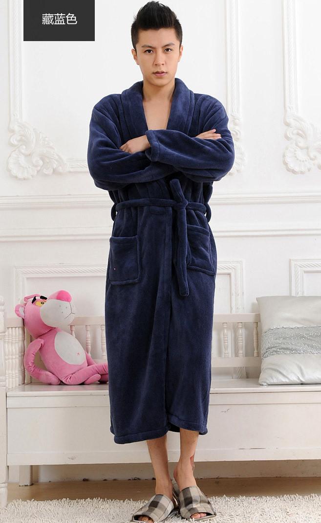 2016-Winter-Autumn-thick-flannel-men-s-women-s-Bath-Robes-gentlemen-s-homewear-male-sleepwear (2)