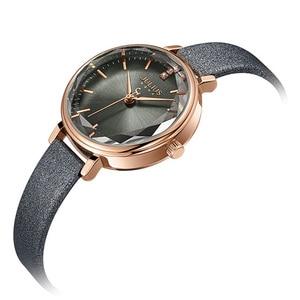 Image 2 - New Julius Womens Watch Japan Quartz Cutting Glass Lady Hours Fashion Clock Bracelet Real Leather Girls Birthday Gift Box