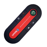 Hands Free 4.0 Bluetooth Car Kit Fm Transmitter Car Speakerphone Auto Visor Music Player with Car Charger USB Cable Visor Clip