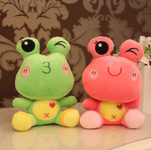 18CM 4 Colors Cartoon Frog Plush 18CM Cute Cartoon Cool Frog Plush Toy Doll Stuffed Animals Baby Toy Children Gifts Wedding