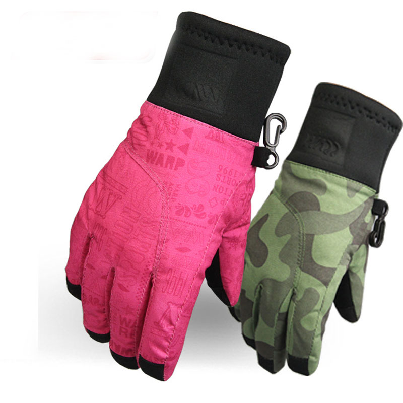 Kids Five Fingers Ski Gloves Snowboard Skiing Gloves Riding Winter Sports Gloves Waterproof Snow Glove For Child Touch Screen