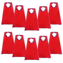 10 PCs SPECIAL 70*70 cm Child Red Cape Super Hero Party Costume Fancy Boys Girls Superhero Capes Kids Halloween