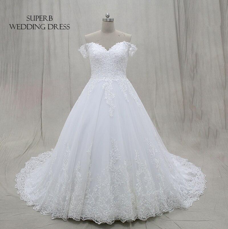 Lace Wedding Dress 2019 Off The Shoulder Straps Bridal Gown Dresses For Bride Superbweddingdress in Wedding Dresses from Weddings Events