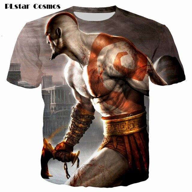 Kratos 3D T shirt Men God of War print Short Sleeve fashion tshirt summer t shirts men/boy homme Camisetas plsus size S-5XL 2