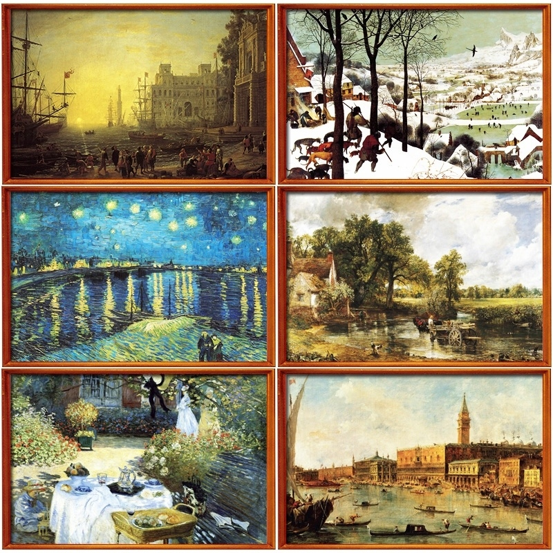New jigsaw <font><b>puzzle</b></font> 2000 pieces of jigsaw world famous master works ,star oil paintings, gifts