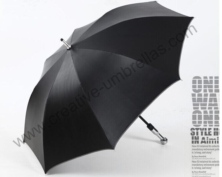 Self-defense unbreakable golf umbrella,carbon fiberglass shaft and ribs,210T Taiwan Formosa pongee black coating 5times,Anti-UV