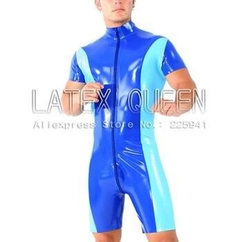 men latex playsuit straitjacket maillot costume