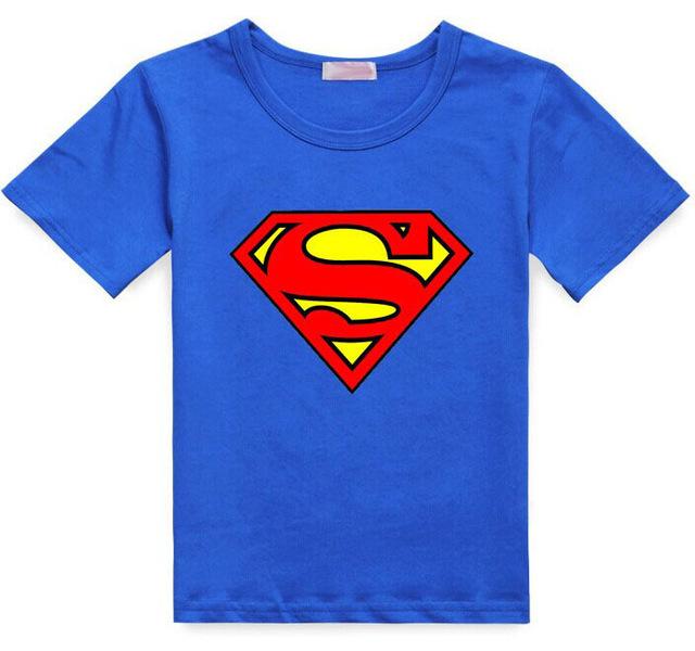 Hottest boys girls summer clothes T-shirt children Popular Hero Print  t shirt kids multicolor super cartoon fashion design