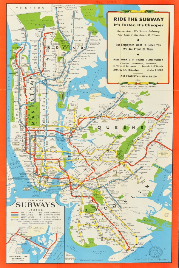 Custom Decorative Wall Maps Wallpaper NY New York Subways Map