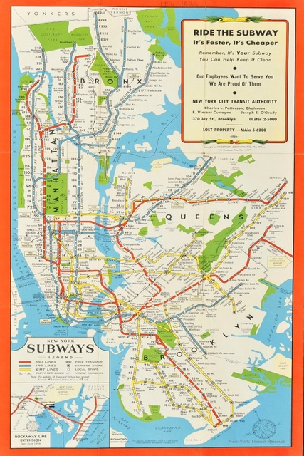 Custom Decorative Wall Maps Wallpaper NY New York Subways Map - Retro world map poster