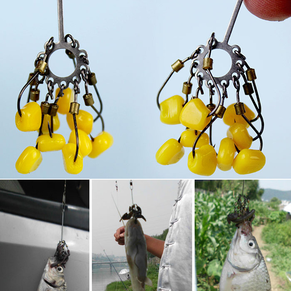 2pcs High Carbon Steel Sharp Explosion Hook Fishing Tackle Jig Hooks Set #8 Carp Fishing Fishhook To Catch Fish