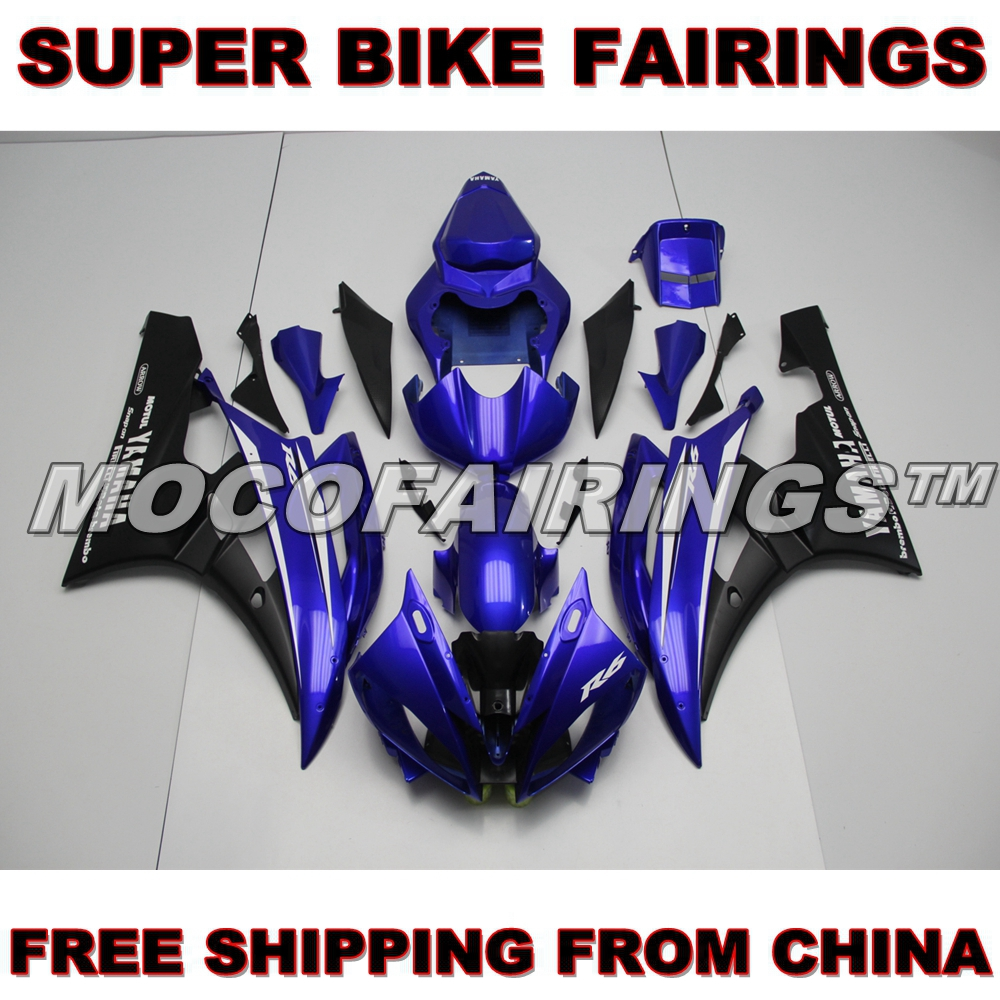 ABS Injection Plastics Fairings For Yamaha YZF R6 Year 2006 2007 06 07 Motorcycle Fairing Kit Body Frames DARK BLUE kemimoto r6 motorcycle complete full set of fairing bolts bolt kit body screws for yamaha yzf r6 2006 2007 r6