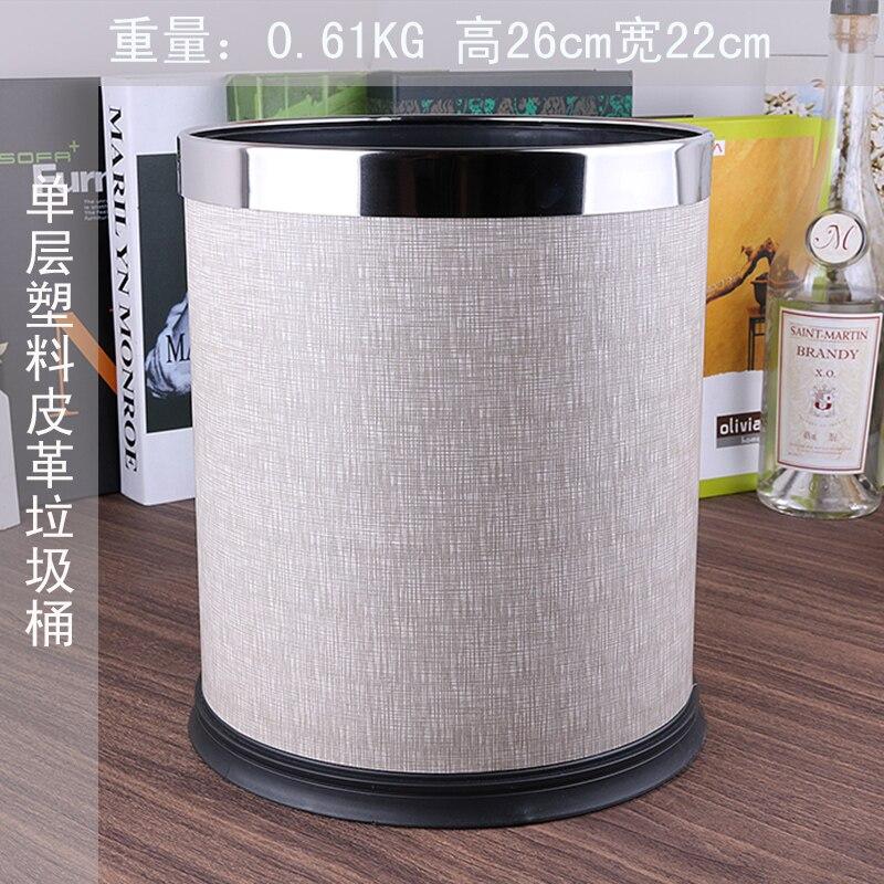 US $59.99 |European metal rubbish bins kitchen waste basket Single layer  trash bin trash can kitchen bag holder for home decoration PLJT15-in Waste  ...