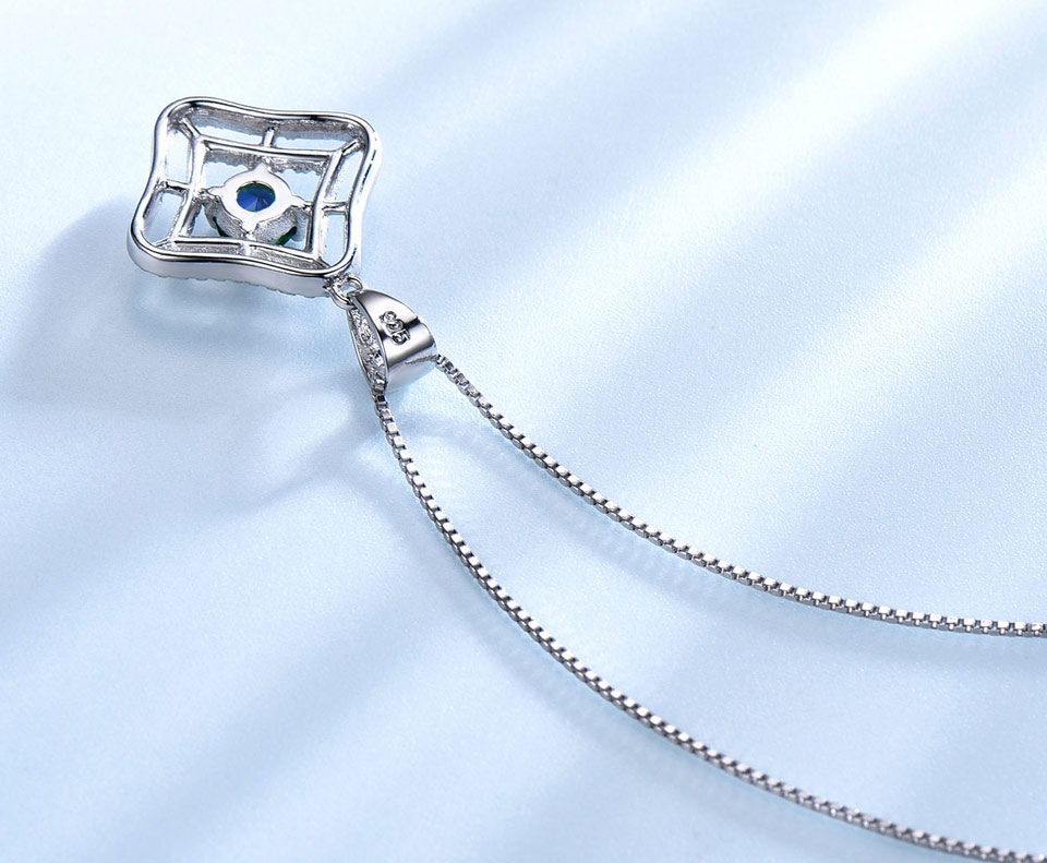 Honyy Sapphire 925 sterling silver jewelry set for women S023S-1 (4)