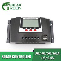 PWM Solar Charger controller 20 30 60 80 AMPS Solar Panel Backlight voltage control Auto LiFePO4 lithium Battery 3.2V 3.7V