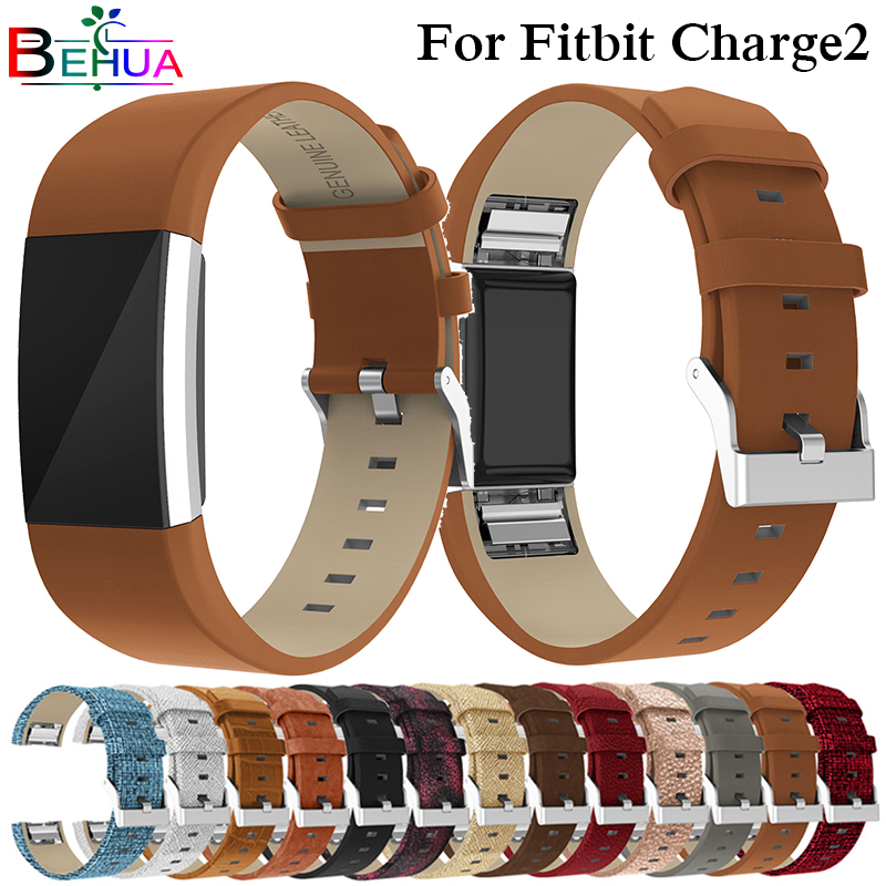 Genuine Leather Straps For Fitbit Charge 2 Strap Smart Bracelet Watch Band For Fitbit Charge2 Heart Rate Wristband Replacement