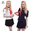 USA Size Japan School Girls Sailor Dress Shirts Uniforms Cosplay Costumes White Navy School Uniform