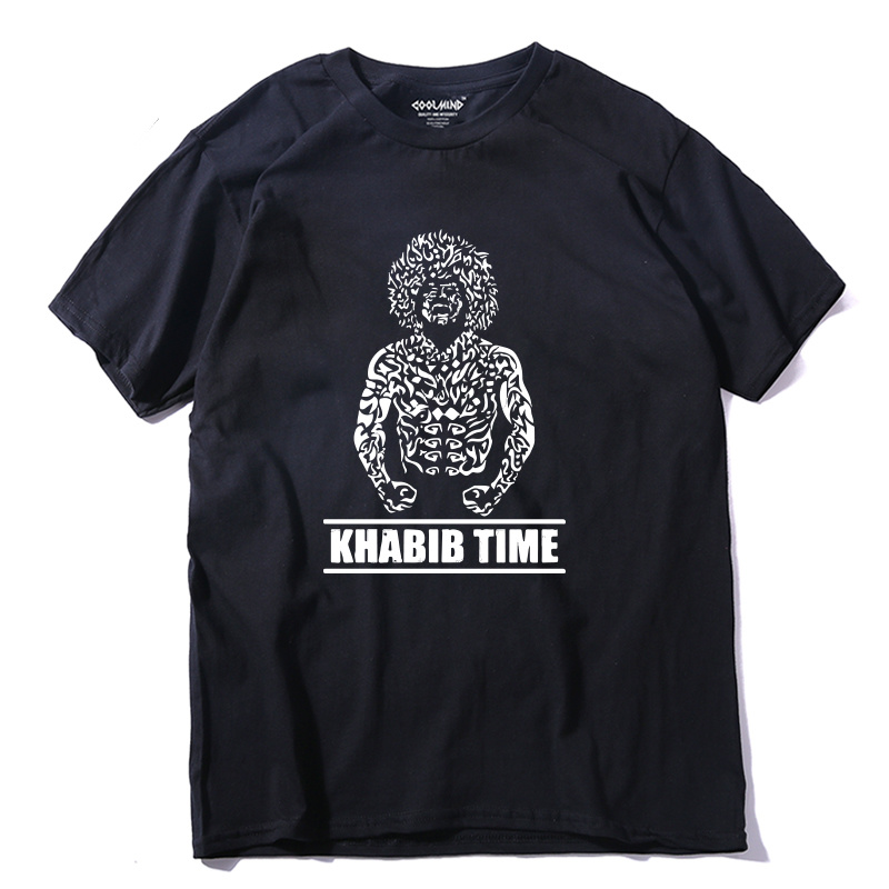 100% Cotton Cool Khabib Men T Shirt Casual Short Sleeve Khabib Nurmagomedov Summer Loose Men Tshirt Male Tee Shirts Modern And Elegant In Fashion