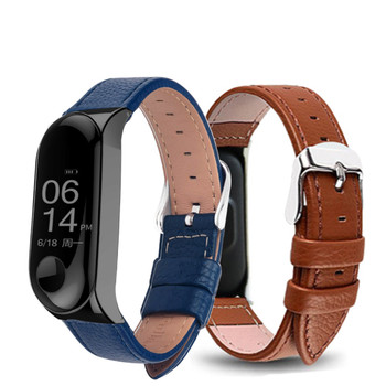 Colorful Leather Black Rose Gold Case Smart Watch band for Xiaomi Mi Band 3 strap For xiaomi mi band 2 bracelet Miband 3 Strap