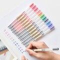 12 teile/los Kreative 12 Farben Gel Stift 0,5mm Farbe Tinte Stifte Marker Schreiben Schreibwaren Mode Stil Schule Büro Liefert geschenk