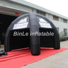 ФОТО customized black advertising inflatable tent china dome commercial 2 removeable walls 4 legs inflatable spider tent for events