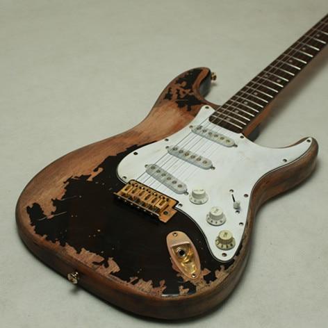 Starshine Professional Handmade Relic 1961 FD  Electric Guitar One Piece Mahogany Body Aged Hardware Nitrolacquer Finish