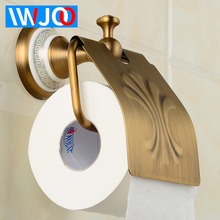 цена на Toilet Paper Holder Cover Waterproof Antique Brass Ceramic Paper Towel Holder Roll Paper Wall Mounted Luxury Tissue Paper Holder