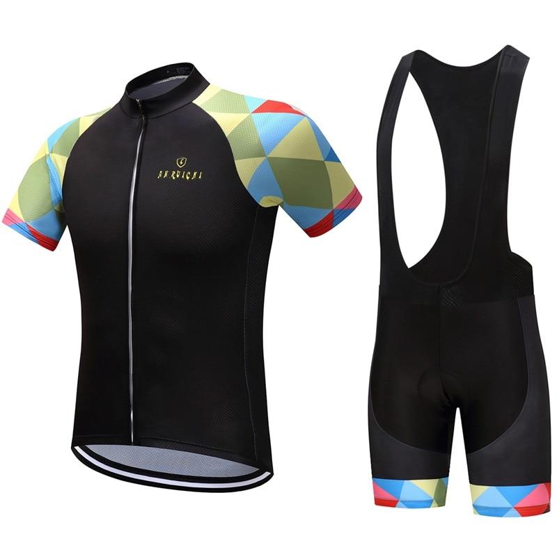 Ropa de bicicleta Cycling Clothes Summer Men Jersey Cycling New Sport Comfort Set Free Shipping Hombre Maillot Ciclismo Racing