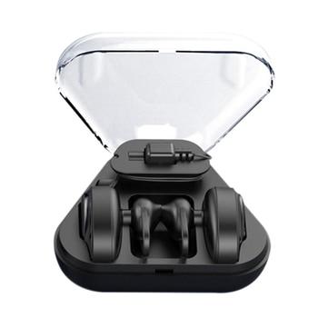 BL02 inalámbrica Bluetooth 4,2 Mini doble oído estéreo HIFI auriculares de ruido DSP cancelar auriculares 300 mAh caja de carga de auriculares