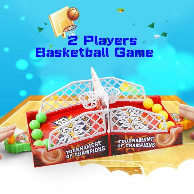 Nuevo 2 Jugadores de Escritorio Interactivo Juegos de Tiro de Baloncesto Deportes Juguetes Familia Dedos de Eyección Juguete Juego Deporte Al Aire Libre Para Los Niños