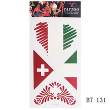 9fd66b618 2019 fashion Temporary tattoo sticker World cup football 3D Waterproof  Tattoo Stickers Arm Face Body Flag